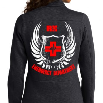 Emergency Department Women's Black Jacket Back