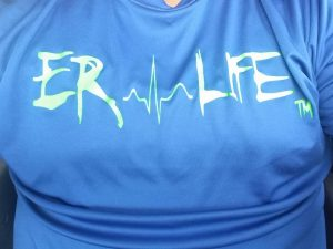 ER LIFE® Neon Green Front Chest