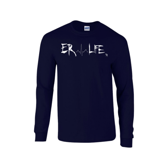 ER LIFE® Women's Navy Long Sleeve 5400L