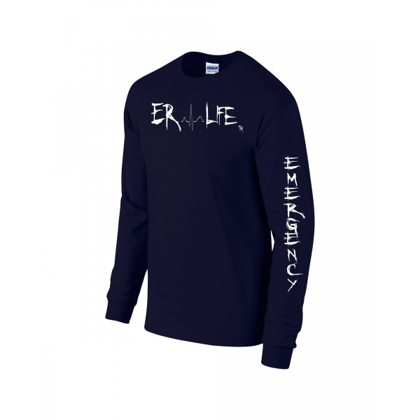 ER LIFE® Long Sleeve Navy Shirt