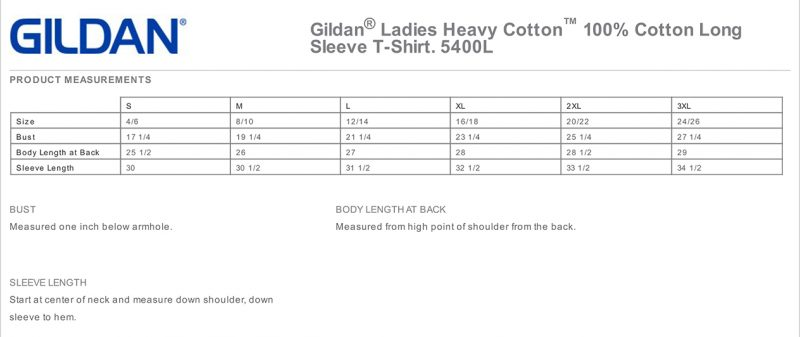 5400L Men's Product Measurements