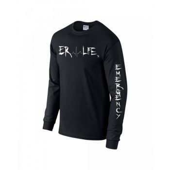 ER LIFE® Black Long Sleeve Side View