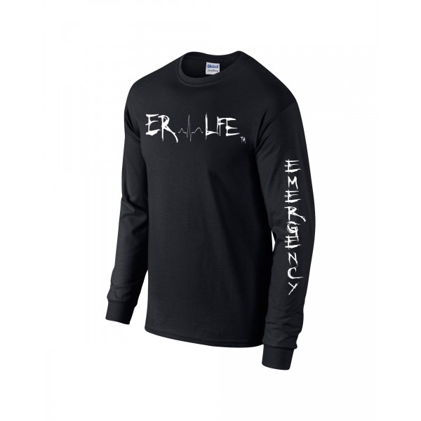 ER LIFE® Black Long Sleeve Shirt Side