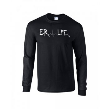 ER LIFE® Black Long Sleeve Shirt Front