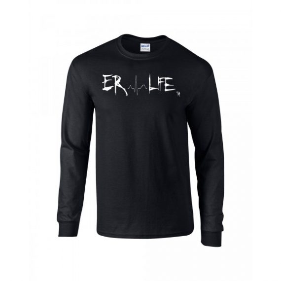ER LIFE® Black Long Sleeve Shirt