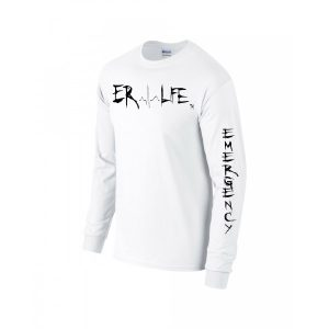 ER LIFE® Long Sleeve White Shirt side View