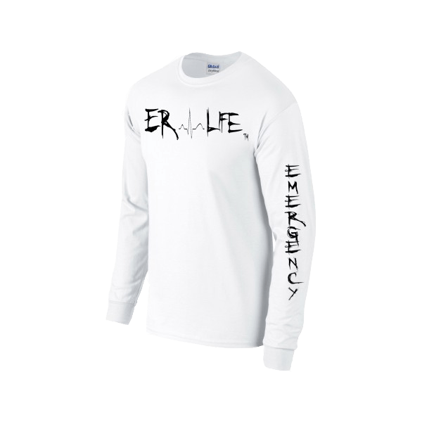 ER LIFE® White Shirt with Black Print