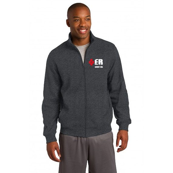 Emergency Department Men's Charcoal Gray Jacket Front