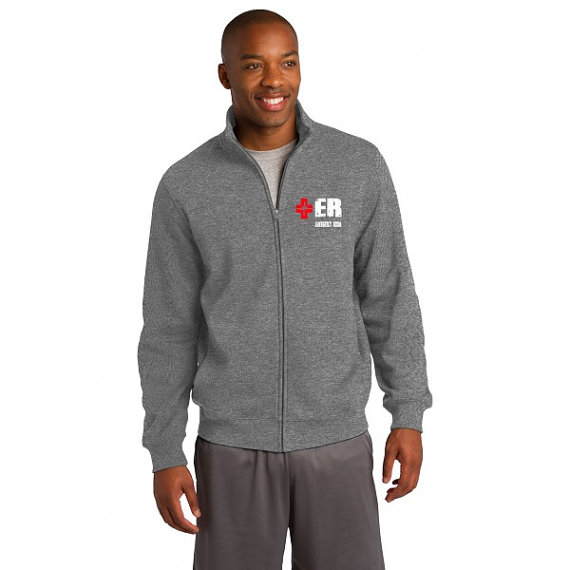 Emergency Department Men's Heather Gray Jacket Front