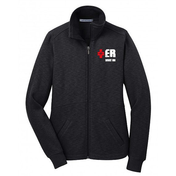 Emergency Department Women's Black Jacket Front