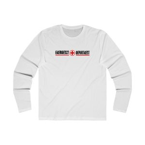Emergency Department Red Line Crew Neck White