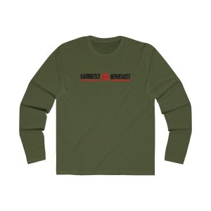 Emergency Department Red Line Crew Neck Military Green