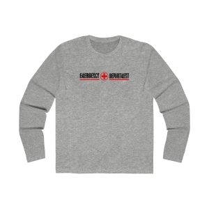 Emergency Department Red Line Crew Neck Ash Grey